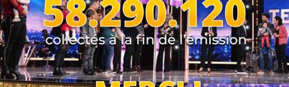 Téléthon 2020 : 58 290 120 euros !